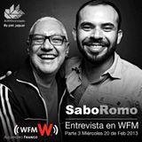 Sabo Romo Entrevista en WFM con Alejandro Franco 20 de Febrero 2013 Parte 3