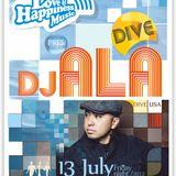 DJ ALA /Dive, San Diego, USA/ live @ L&HM @ CUBO, Varna; 13.07.2012; part 1