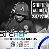 DJ CHEF WITH GUEST DJ STRETCH-KOOL LONDON 27-08-16