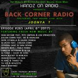 BACK CORNER RADIO: Episode #265 (April 6th 2017)