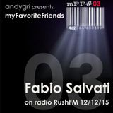 Fabio Salvati @ on radio RushFM 12/12/15