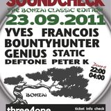 Soundcheck BomaX  - live dj Peter K 23-9-2011