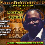 MUSICAL GENIUS LIVE INTERVIEW WITH DJ JAMMY ON ZIONHIGHNESS RADIO 042618