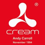 Dj Andy Carroll @ Cream, Liverpool 26.11.1994