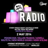 ONELOVE Radio - 2 MAY 2014 + Phonat Interview