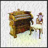 Orgel und Stuhl