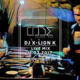 Dj X-Lion K Live @ CODE 11_03_2017