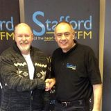 Stafford FM's Ray Crowther talking with Steve McTigue