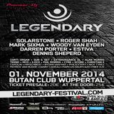 Roger Shah  -  Live At Legendary Festival, Butan Club (Wuppertal, Germany)  - 01-Nov-2014