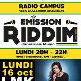 Emission RIDDIM 16 octobre 2017 avec LMK