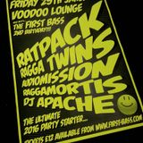 First Bass 2nd Birthday @ Voodoo Lounge Jan 29th 2016 - DJ Apache.