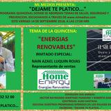 "DEJAME TE PLATICO  14SPET18  ""ENERGIAS RENOVABLES"""