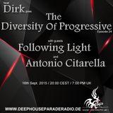 Dirk - Host Mix - The Diversity Of Progressive 24 (16th Sept. 2015) on DeepHouseParadeRadio.de