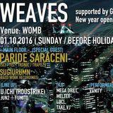 WEAVES @ Womb Lounge 1F DJ Set CHiE Nakajima 10, Jan 2016