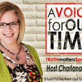 Is Christianity being Purged in America on A Voice for Our Time with host Charlana Kelly