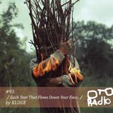 #93. KLUGE - each tear that flows down your face..