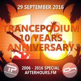 Armin van Buuren @ TrancePodium 10th Anniversary Celebration on AH.fm (29-09-2016)