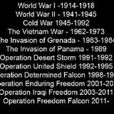 US wars the last 100 years (07_Nov_2016)
