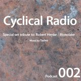 Podcast 002: Tribute to Robert Henke / Monolake. Mixed by Tadeo