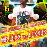 LEXXUS LIVE@IRIE SOLDIERS 11th BDAY BASH (MILAN ITALY 25 NOV 2013)