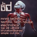mnml techno, techno, tech house, electronica top 20 ver.8.0 [brutalbattledroid simple cut mix]