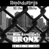 RepIndustrija Show 92.1 fm / br. 43 Tema: Who Represent's Bronx - Session