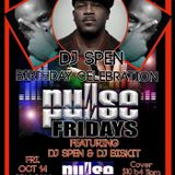 Pulse Fridays 10-14-16 with DJ Biskit and Special Guest Spen!!