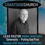 Generosity - Putting God First