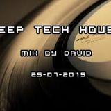 Deep Tech House Mix By David 25-07-2015