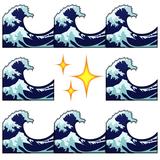 Wave wave wave wave stars wave wave wave wave