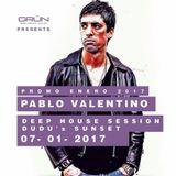 Pablo Valentino-DEEP HOUSE SESSION@ DUDU's SUNSET (07-01-2017)