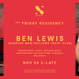 The Friday Residency Live - Ben Lewis - 09/11/18