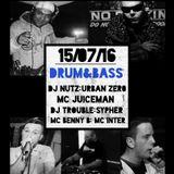 THE D'n'B DAMAGE SHOW WITH DJ NUTZ, DJ URBAN ZERO, MC JUICEMAN