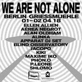 """Alan Oldham (DJ T-1000) at """"We Are Not Alone"""" @ Griesmühle (Berlin - Germany) - 1 April 2018"""