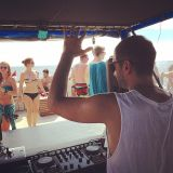 Uncle Roll at Dragoon Boat, Gili Trawagan, Bali, Indonesia 2015-04-17