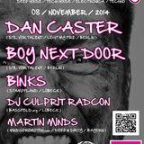 Dj Culprit Radcon @ Deep & Dirty /w Dan Caster + Boy Next Door Lübeck 11/14