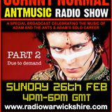 "RW083 - THE JOHNNY NORMAL ""ADAM & THE ANTS SPECIAL - PART TWO"" RADIO SHOW - RADIO WARWICKSHIRE"