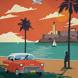 Cohibas and Chevrolets Bel Air in Havana