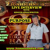 "PURPOSE ""EXPRESSIONZ"" LIVE INTERVIEW WITH DJ JAMMY ON ZIONHIGHNESS RADIO 08-22-2013"