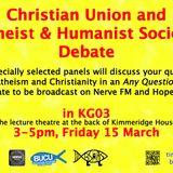 BUCU and BSHAS Debate, 15 March 2013