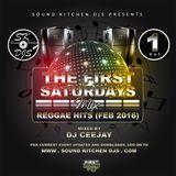 Ceejay - Reggae Hits (FEB 2016), 1st Saturdays Mix Vol1