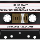 225 - DJ MC GIANY - TRACKLIST - CELE MAI NOI MELODII ALE SAPTAMANII (16.04.2018 - 22.04.2018)
