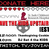 Ep.186 - twitch.tv/JOVIAN - Save The Kids Upstairs - Charity DJ Stream