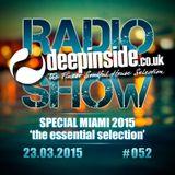DEEPINSIDE RADIO SHOW 052 Special MIAMI 2015