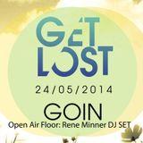 """René Minner - Get Lost """"Open Air Floor"""" - GoIn Obergünzburg, 24.05.2014 (23:00 - 01:00 Uhr)"""