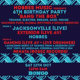 Hobbes Music 6th Birthday Party, The Bongo Club, Edinburgh (Warm-up Set), October '19