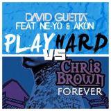 David Guetta feat Ne-Yo & Akon vs Chris Brown - Play Hard (Forever) (John Michael Edit)