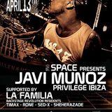dj Javi Muñoz @ La Rocca - Space 13-04-2013
