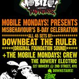 Downbeat The Ruler Live Mix Next NY Appearance 4/15 Bowery Electric