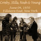Crosby, Stills, Nash & Young   /  Fillmore East, NYC, New York 1970 June, 4th
